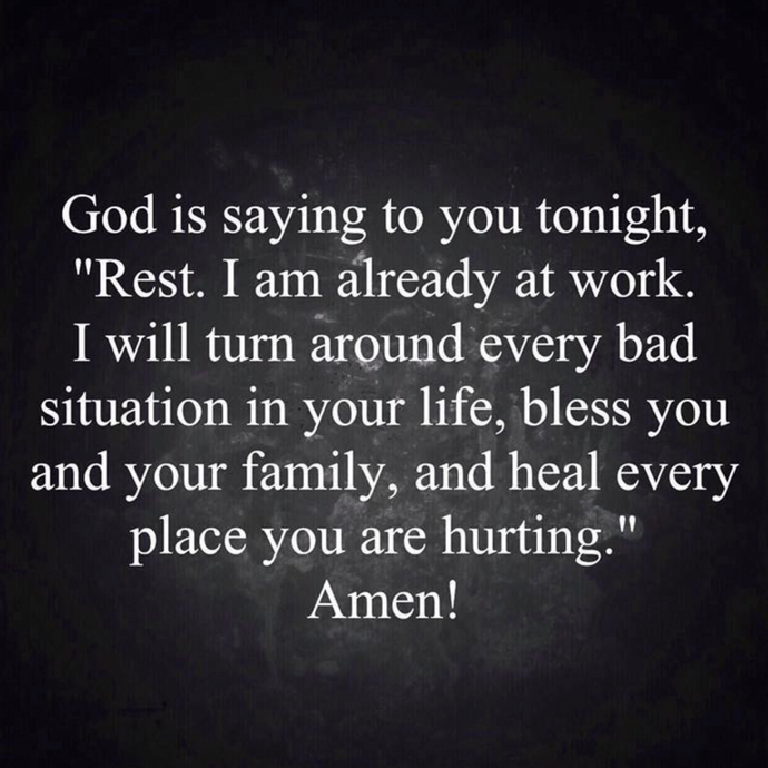 Rest tonight 🙏