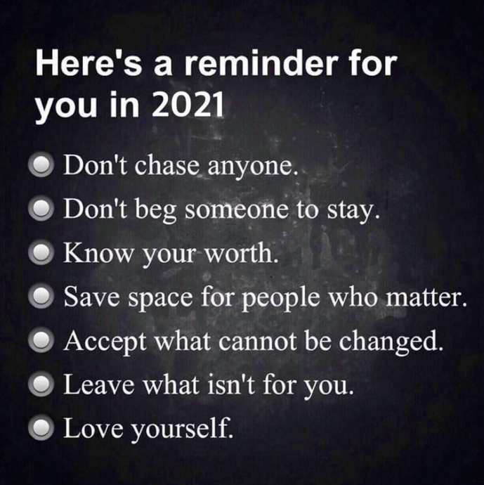 Your 2021 reminder 🙏