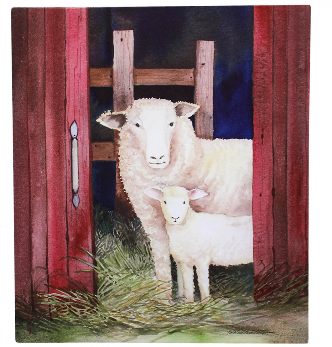 Canvas Sheep Pair