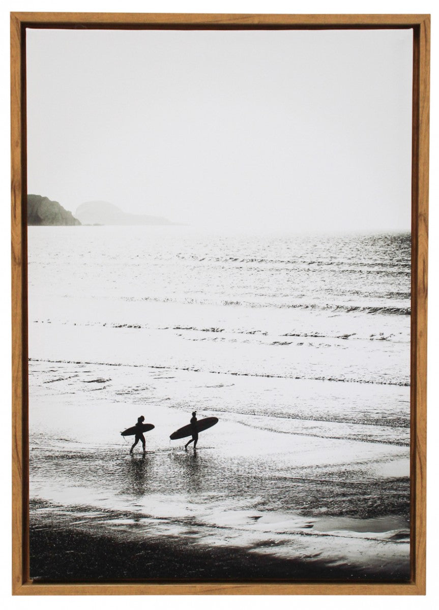 Framed Canvas Surfers 4