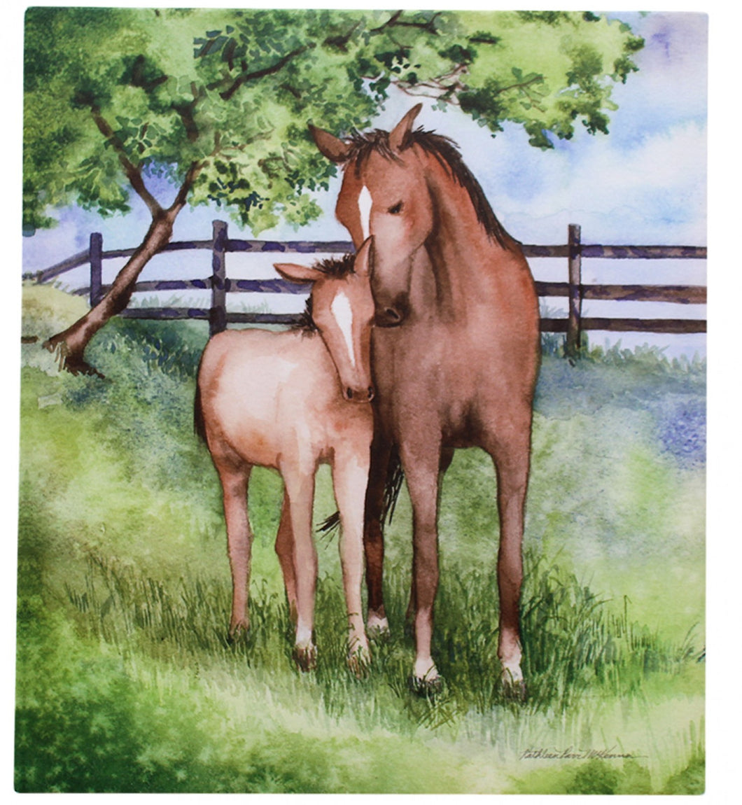 Canvas Horses Pair