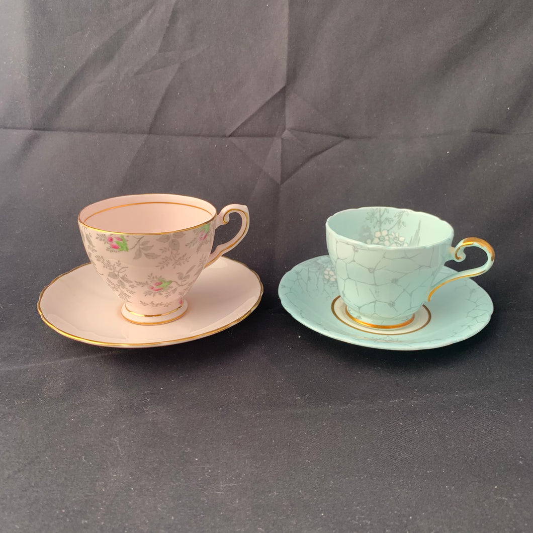 Set of oriental tea cups