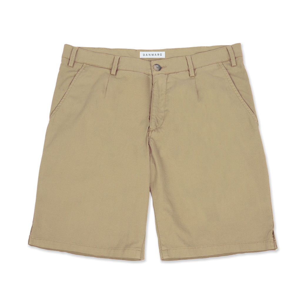 Mid length cotton stretch walking short