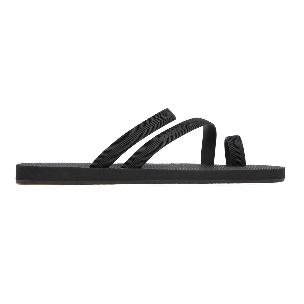 Luxe flip flop  with asymmetric caged upper