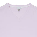 Cotton v-neck t-shirt with contrast trim detail