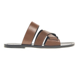 Crisscross multi-straped leather sandal