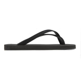 Black colored cross toe luxe flip flop