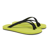 Bi-colored cross toe luxe flip-flop