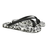 Bi-colored cross toe luxe flip flop, camouflage