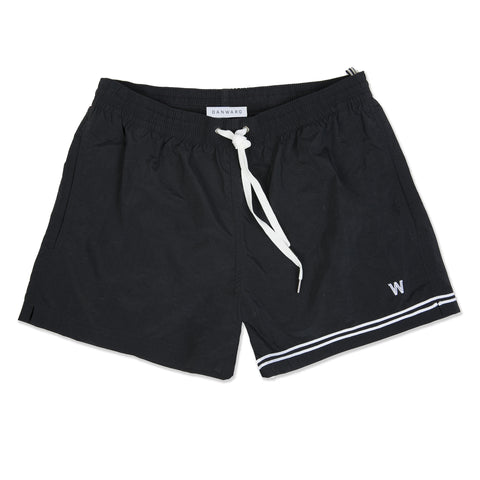 Black elasticated swim short