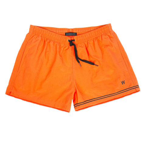 Orange elasticated swim short