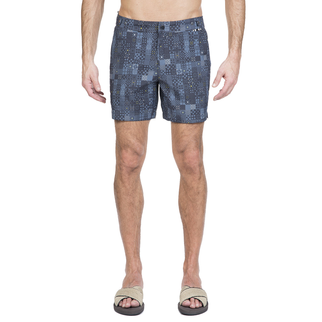 Slate tailored mid-length swim short