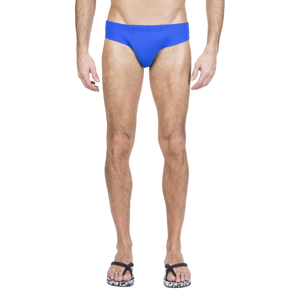 Blue lycra brief