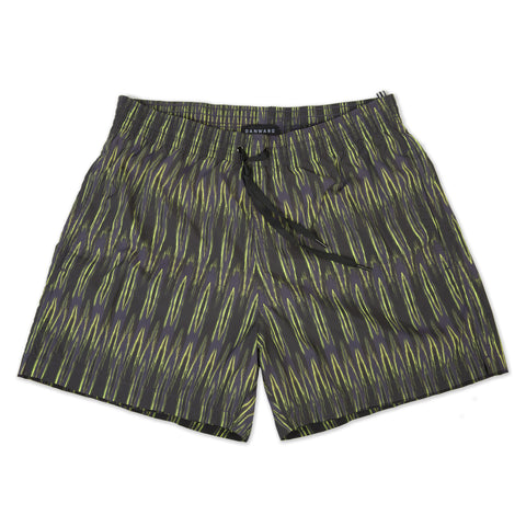Yellow elasticated mid-length swim short