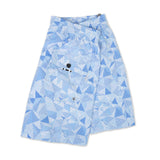 Light blue elasticated mid-length swim short