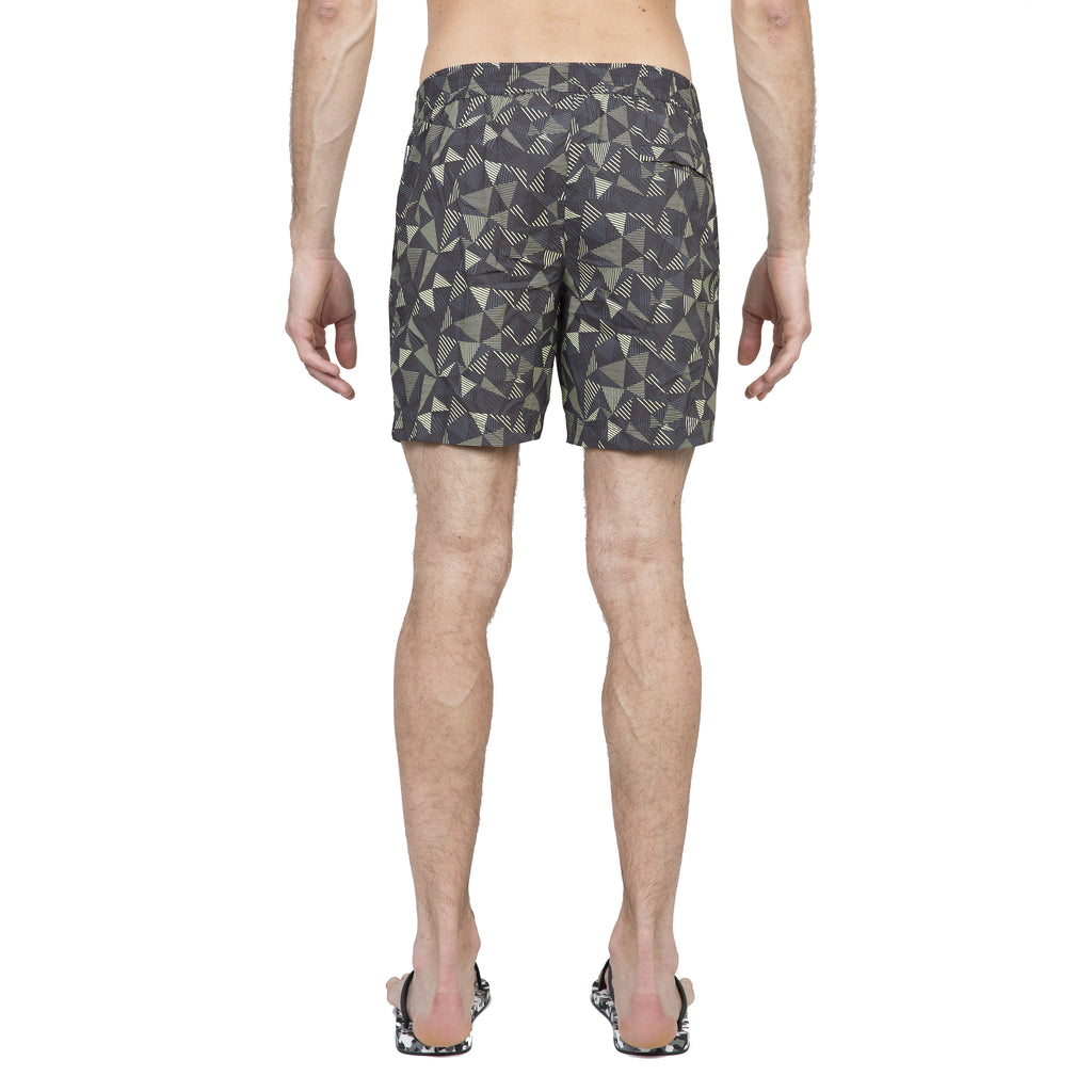 Yellow tailored mid-length swim short