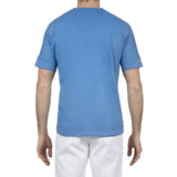 Cotton/linen jersey t-shirt with kimono style short sleeves