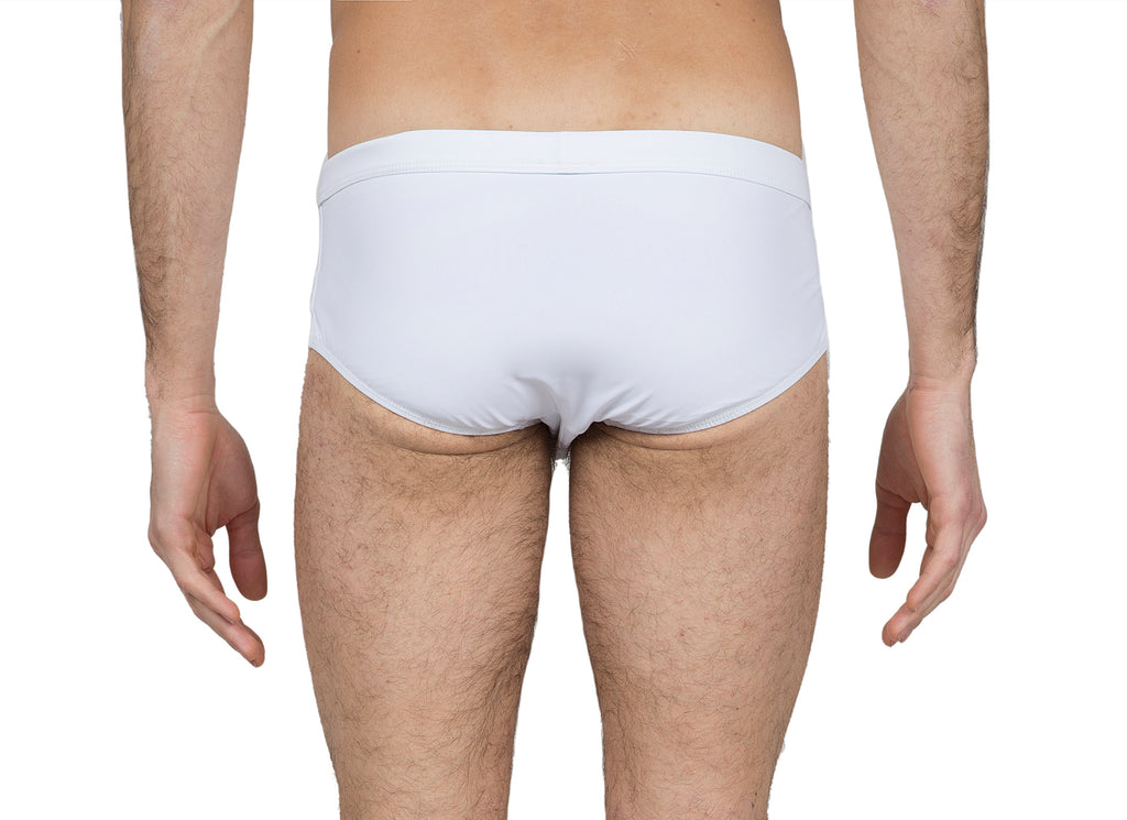 White lycra brief
