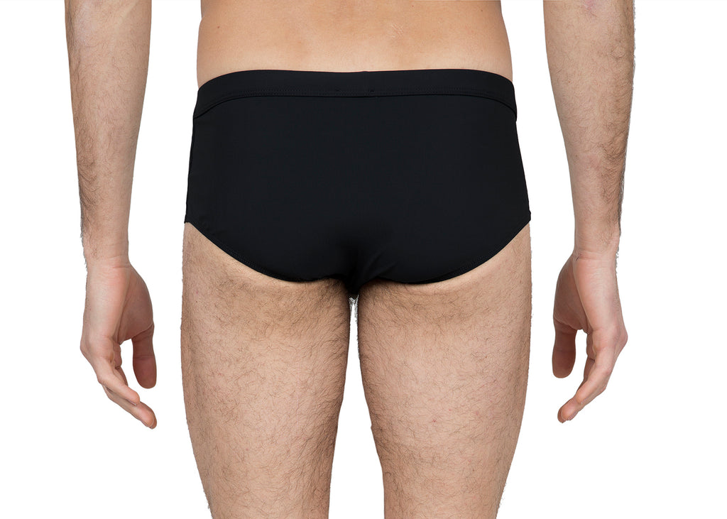 Black lycra brief