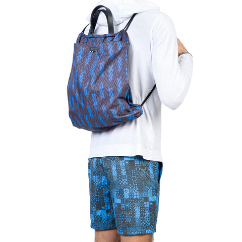 Small nylon tote | back pack with print