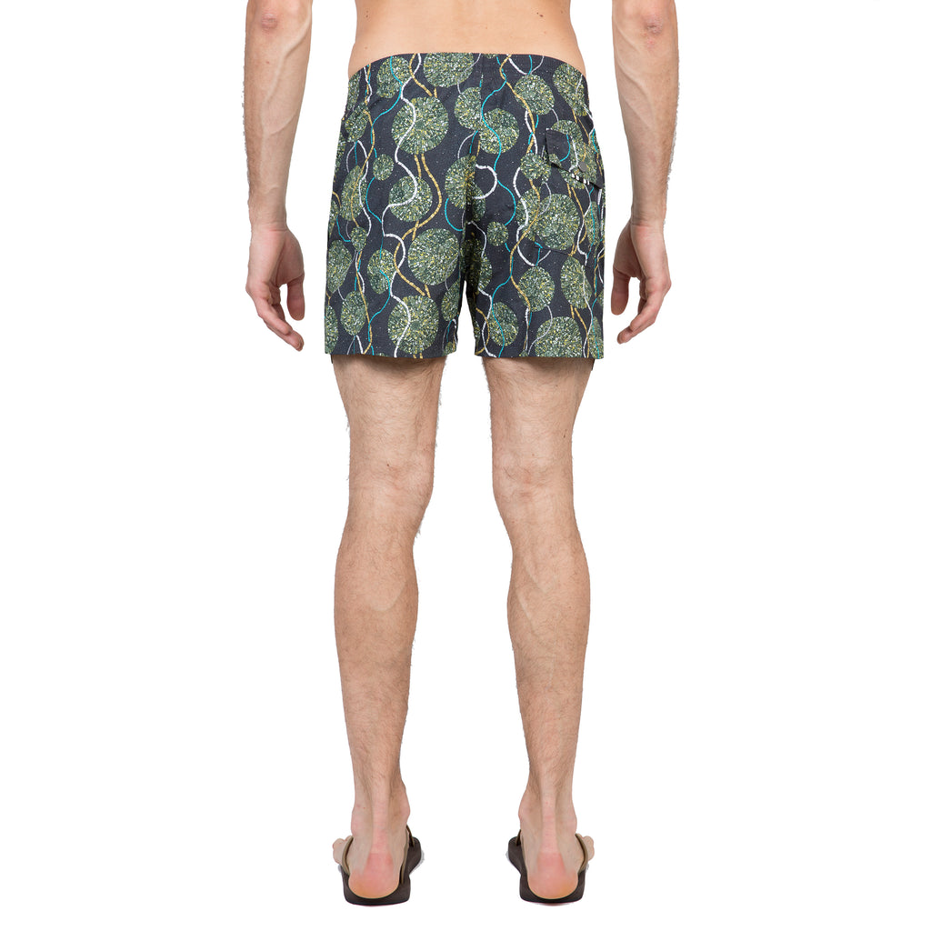 Slate elasticated mid-length swim short