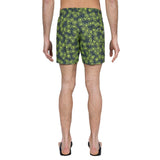 Printed elasticated mid-length swim short jellyfish motif