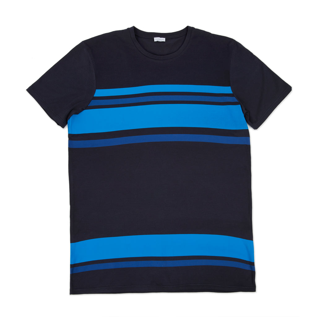 Cotton jersey tee shirt with bicolor print