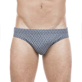 Brief with W logo check print
