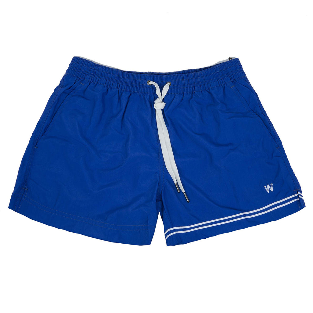 Bright blue elasticated swim short
