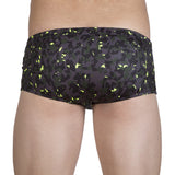 Square leg brief with camouflage print