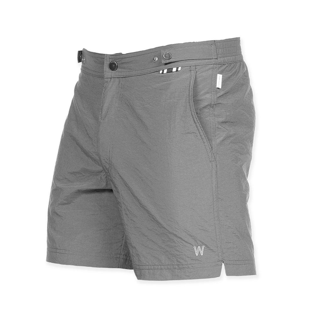 Grey tailored mid-length swim short