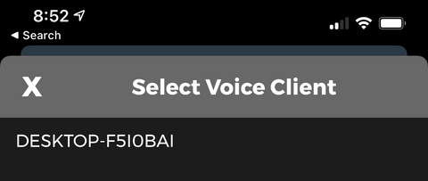 select client to connect sayit wireless app