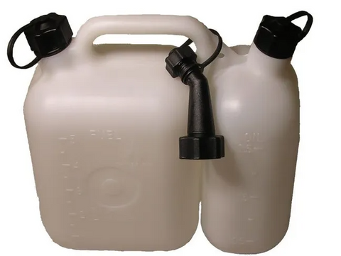 Tecomec Combi Fuel Can with anti spill spout - 5 & 2.5L