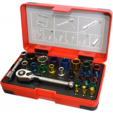 "Socket & Bit Set 1/4"" Drive 28-pce"