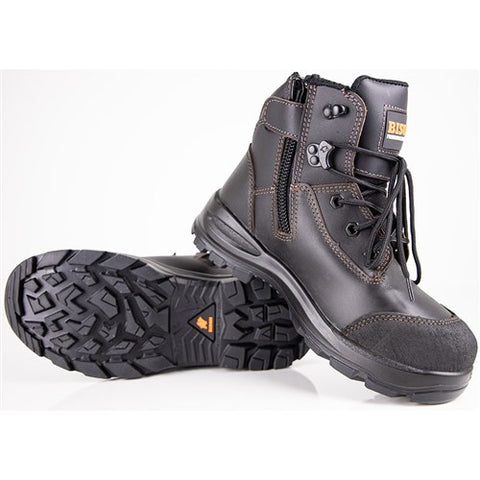 LACE UP SAFETY BOOT TOR ZIP SIDE