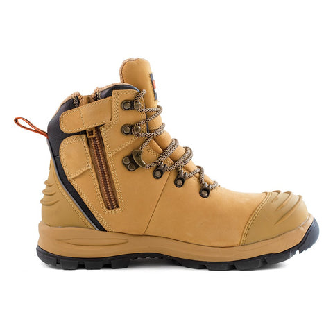 BISON  LACE UP SAFETY BOOT XT ZIP SIDE