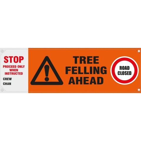 Standard Tree Felling Ahead Banner