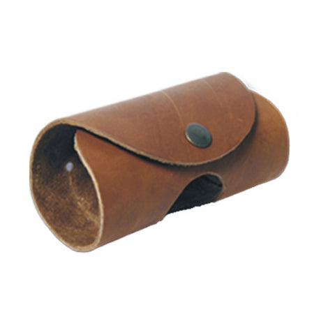 LEATHER BELT ATTACH ROLL HAMMER HOLDER - Brown