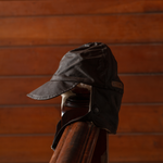 Brown Wool Lined Trapper Hat