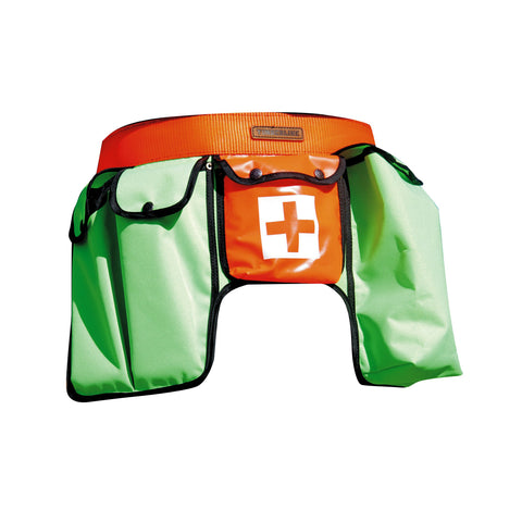 POLYESTER MULTI POUCH TOOLBELTV- Green/Orange