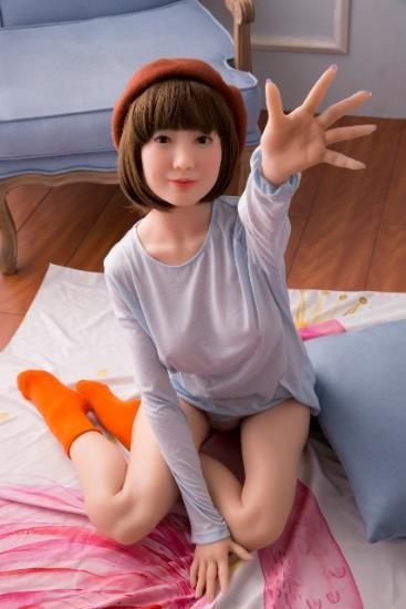 152CM(4ft11') Brown Hair White Skin Sex Doll Asian - S9 Ruo Shui