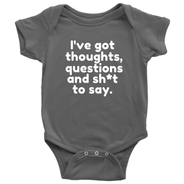 Babies Speak Out Babygrow from Warrior Princess