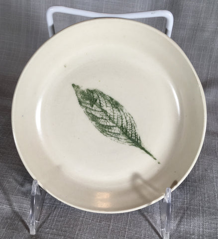 Plate with Small Leaf