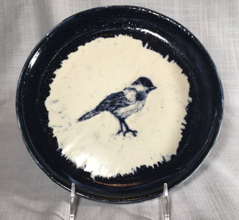 Large Chickadee Plate