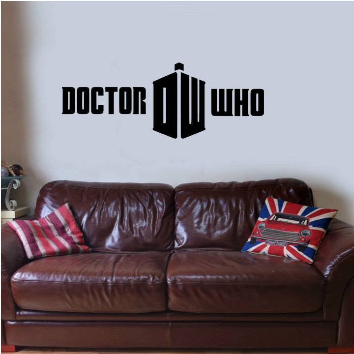 "Doctor Who Logo Whovian - 23"" Die Cut Vinyl Wall Decal Sticker"