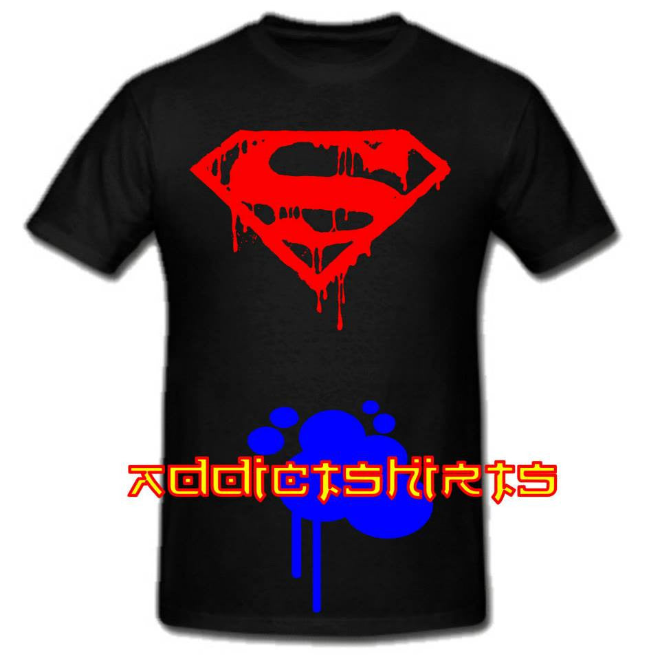 Superman Dripping Logo T-shirt | Blasted Rat