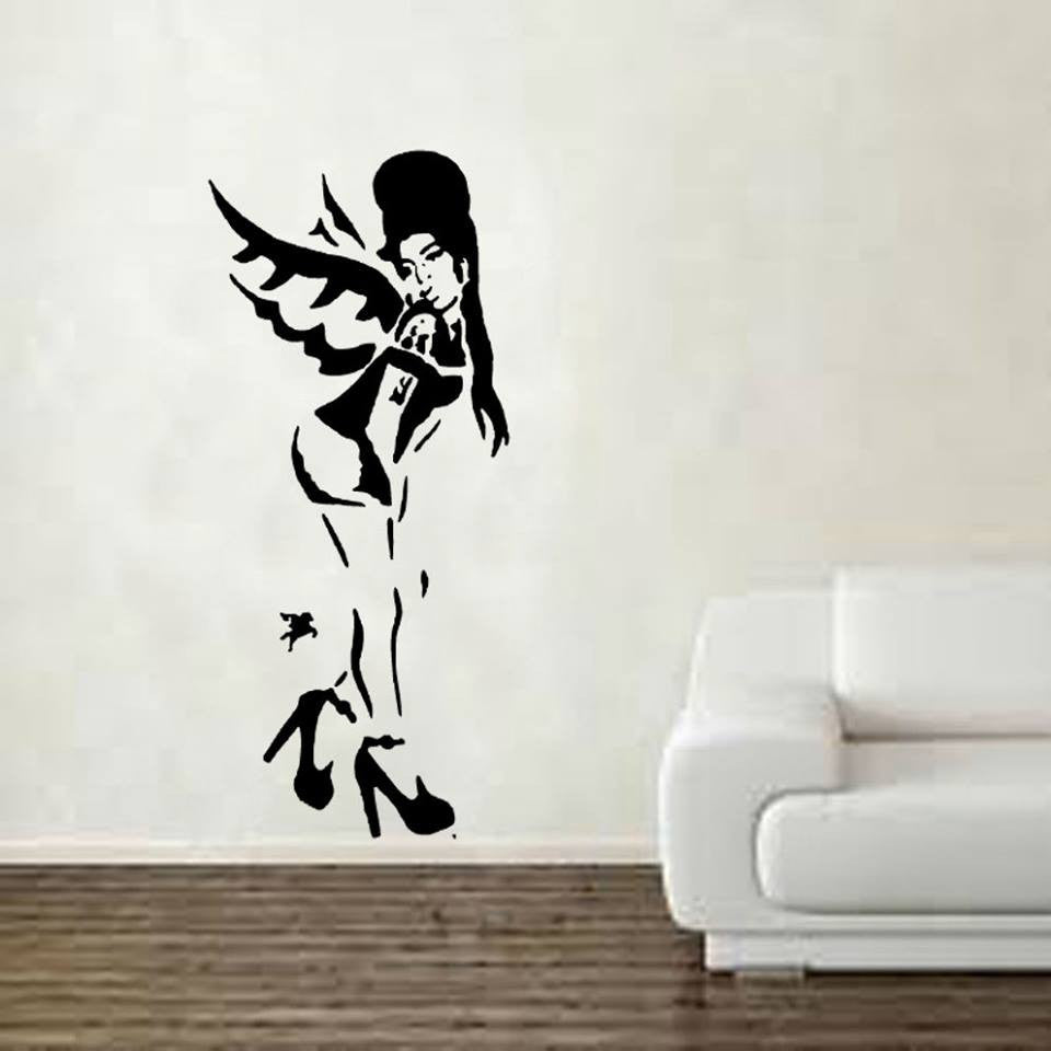 "Banksy Street Art  Amy Winehouse - 23"" Die Cut Vinyl Wall Decal Sticker"
