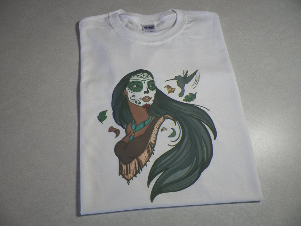 Day Of the Dead Disney Princess Pocahontas T-shirt