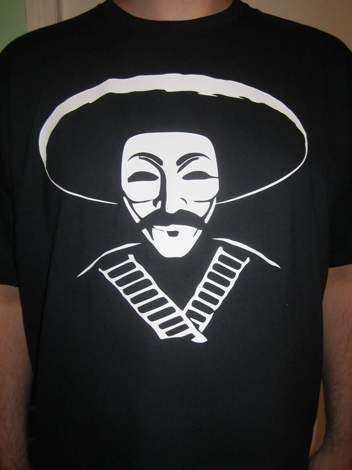 Anonymous Bandito with Bullet Belt T-shirt