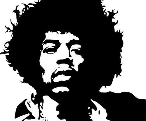 "Jimi Hendrix - 23"" Die Cut Vinyl Wall Decal Sticker"